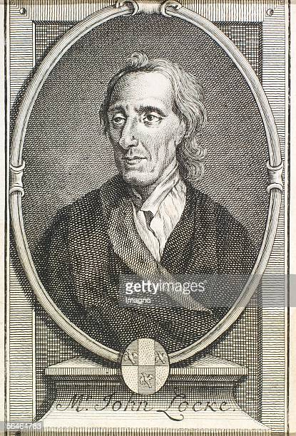 English philosopher John Locke Copper Engraving 18th century [Der englische Philosoph John Locke Kupferstich18 Jh]