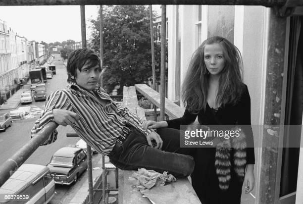English photographer David Bailey with model Penelope Tree in London circa 1967