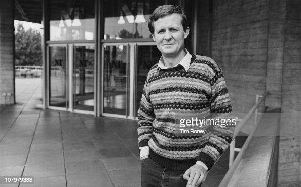 English playwright and director David Hare outside the National Theatre London circa 1984