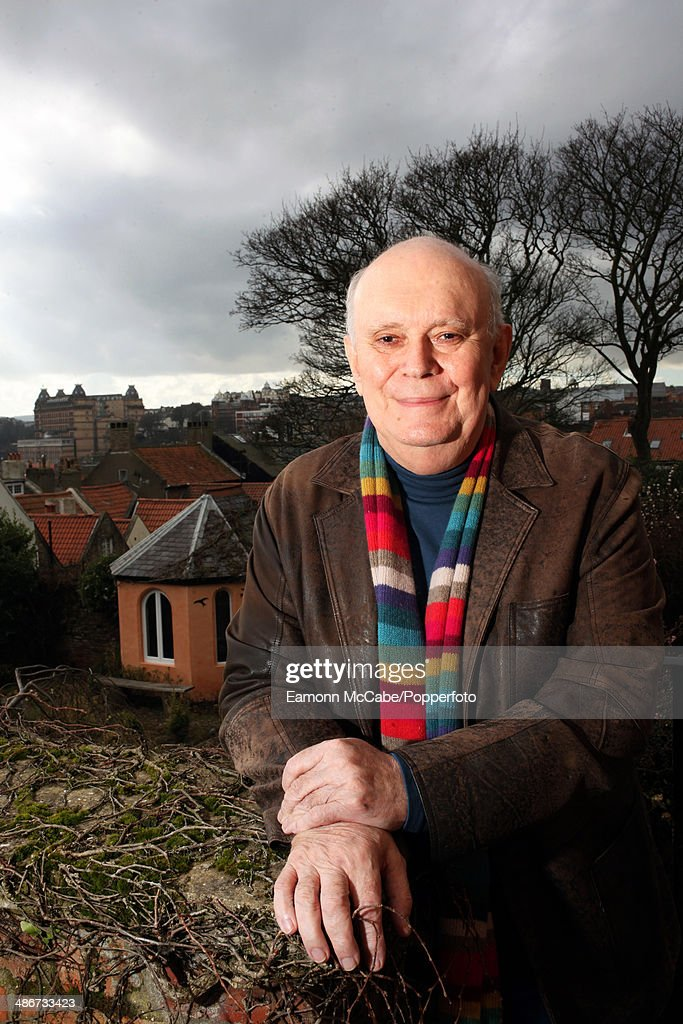 English playwright and theatre director Sir Alan Ayckbourn at his home in Scarborough, North Yorkshire, March 2014.
