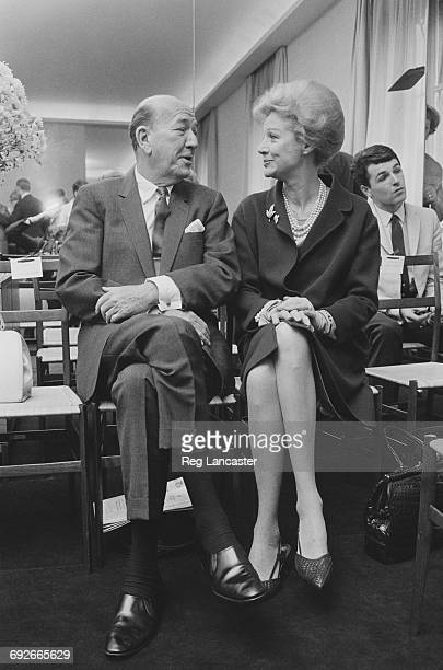 English playwright Noël Coward with actress Margaret Leighton in Paris France 5th August 1966
