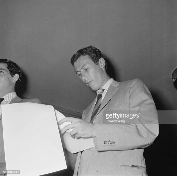 English playwright screenwriter and actor John Osborne attends a reception at the Dorchester Hotel for the film of his play 'Look Back in Anger'...