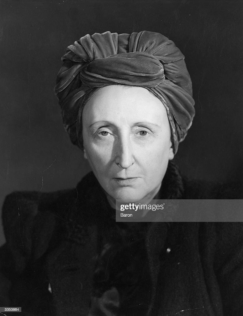 English poet, critic and biographer, Dame Edith Sitwell (1887 - 1964).