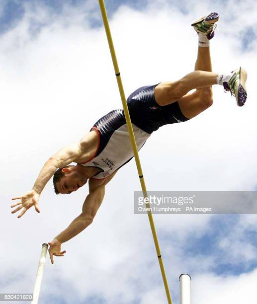 English pole vaulter Timothy Thomas clears 5m 40cm during the Spar European Cup at Gateshead