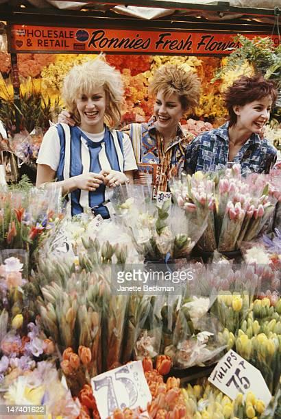 English pop group Bananarama in London circa 1981