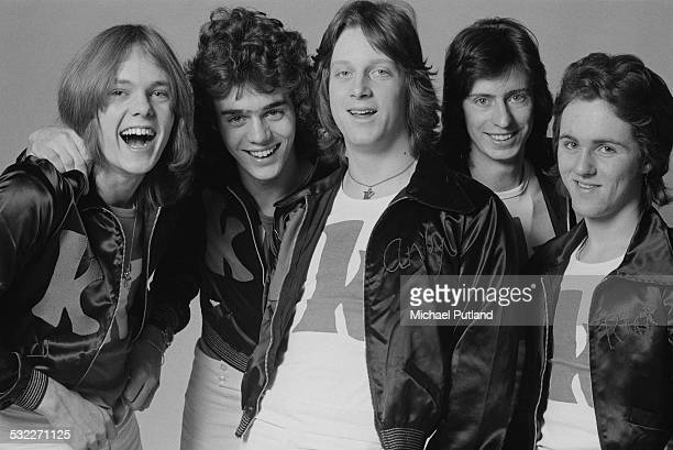 English pop group Kenny 14th January 1975 Left to right guitarist Yan Style bassist Chris Redburn drummer Andy Walton keyboard player Chris Lacklison...