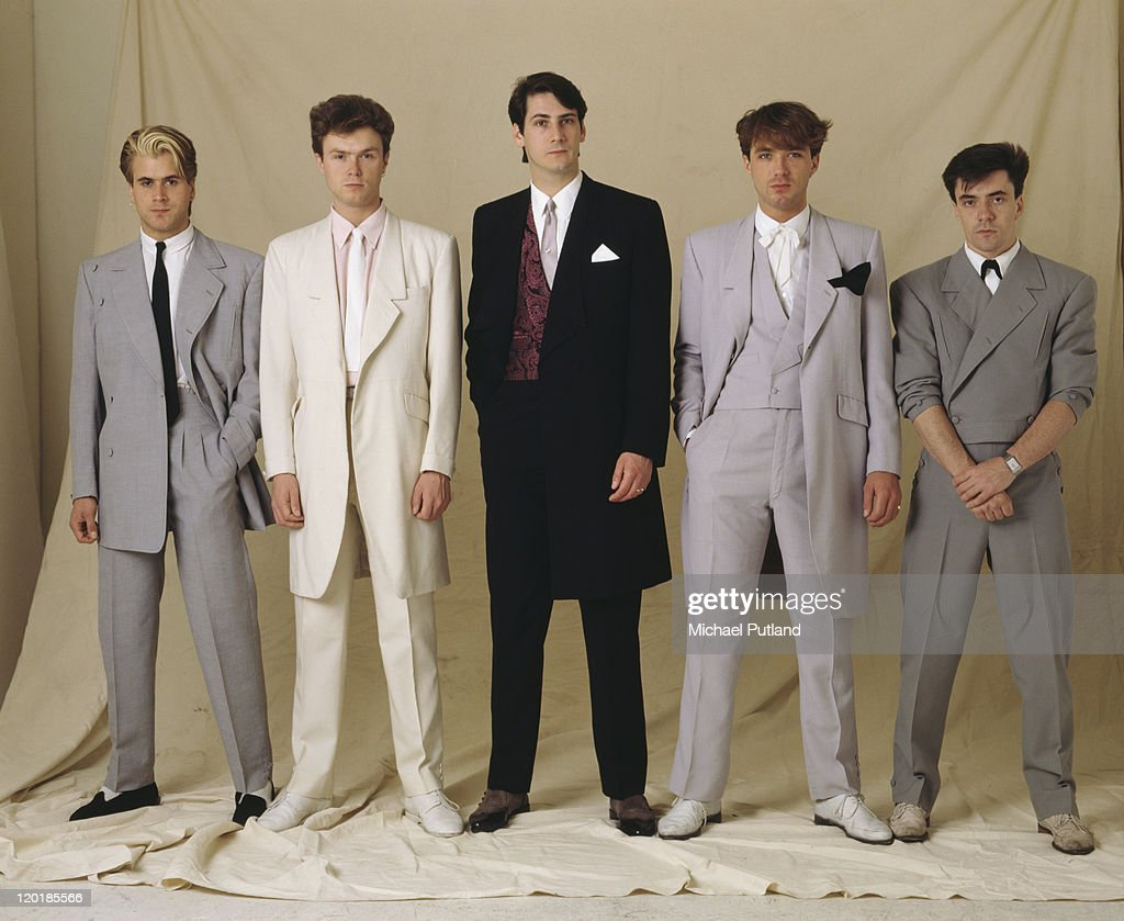 English pop group Spandau Ballet, circa 1985. Left to right: saxophonist <a gi-track='captionPersonalityLinkClicked' href=/galleries/search?phrase=Steve+Norman&family=editorial&specificpeople=1573333 ng-click='$event.stopPropagation()'>Steve Norman</a>, guitarist <a gi-track='captionPersonalityLinkClicked' href=/galleries/search?phrase=Gary+Kemp&family=editorial&specificpeople=213076 ng-click='$event.stopPropagation()'>Gary Kemp</a>, singer <a gi-track='captionPersonalityLinkClicked' href=/galleries/search?phrase=Tony+Hadley&family=editorial&specificpeople=214652 ng-click='$event.stopPropagation()'>Tony Hadley</a>, bassist <a gi-track='captionPersonalityLinkClicked' href=/galleries/search?phrase=Martin+Kemp&family=editorial&specificpeople=213385 ng-click='$event.stopPropagation()'>Martin Kemp</a> and drummer <a gi-track='captionPersonalityLinkClicked' href=/galleries/search?phrase=John+Keeble&family=editorial&specificpeople=2011250 ng-click='$event.stopPropagation()'>John Keeble</a>.