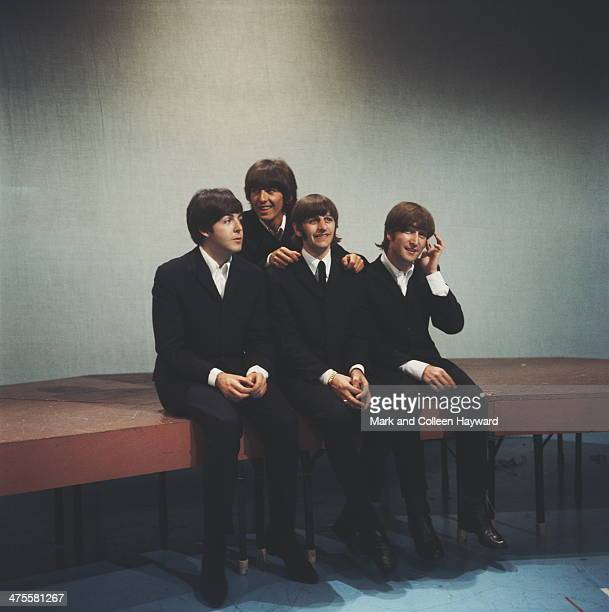 English pop group The Beatles circa 1964 Left to right Paul McCartney George Harrison Ringo Starr and John Lennon