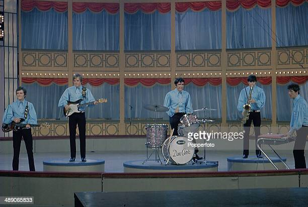 1968 English pop group The Dave Clark Five perform on stage at the Palladium Show in London in 1968 From left to right Rick Huxley Lenny Davidson...