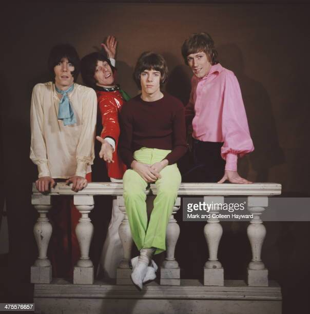 English pop group The Herd 1967 Left to right keyboard player Andy Bown drummer Andrew Steele guitarist Peter Frampton and bassist Gary Taylor