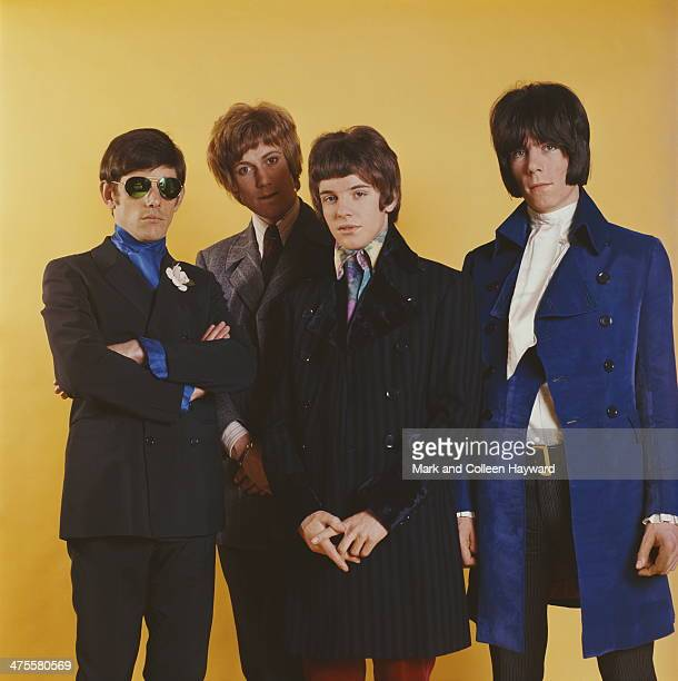 English pop group The Herd circa 1967 Left to right drummer Andrew Steele bassist Gary Taylor guitarist Peter Frampton and keyboard player Andy Bown