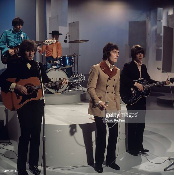 Bernie Calvert Bobby Elliott Graham Nash Allan Clarke and Tony Hicks of The Hollies perform on the 'Bobbie Gentry Show' filmed at BBC Television...