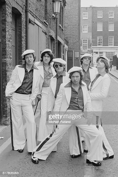 English pop group The Rubettes London 10th May 1974 Left to right Bill Hurd Pete Arnesen Tony Thorpe Alan Williams Mick Clarke and John Richardson