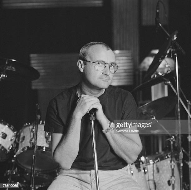English pop singer and drummer Phil Collins circa 1994