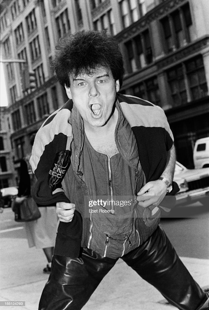 English pop singer Gary Glitter in the USA during a tour, 1984.