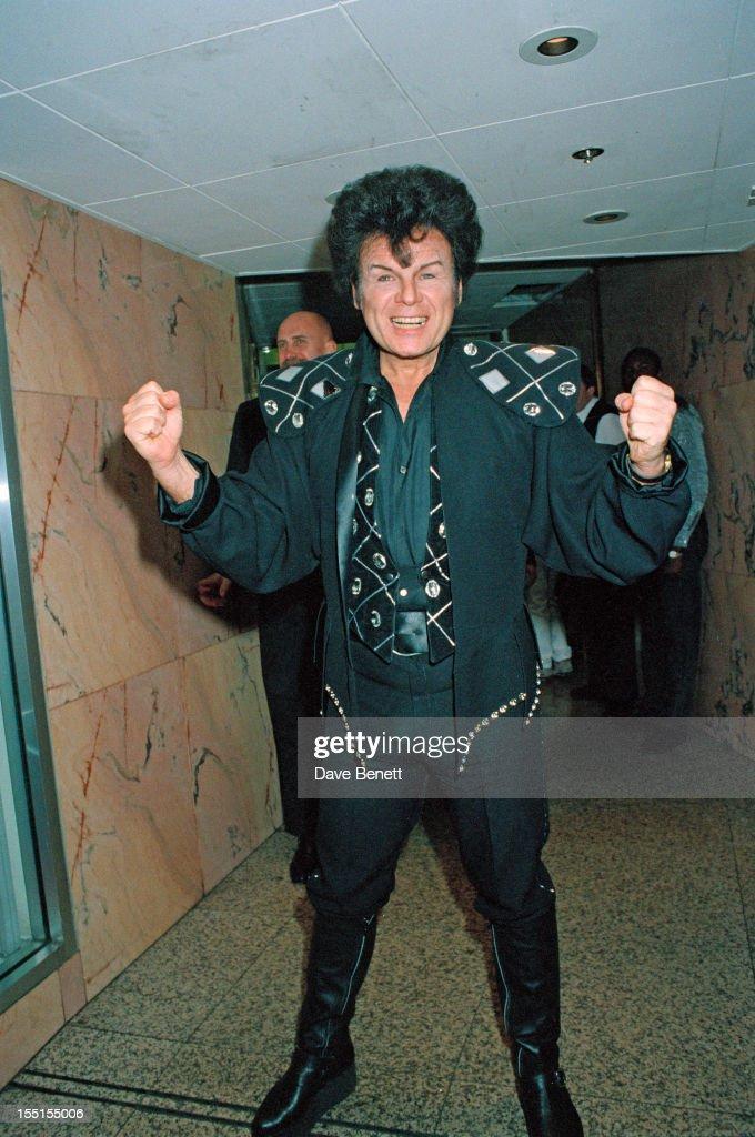 English pop singer Gary Glitter,16th December 1990.