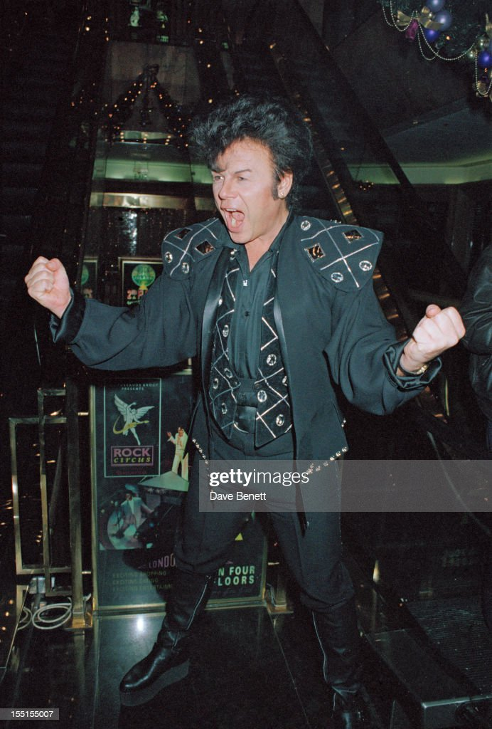 English pop singer Gary Glitter,16th December 1990.