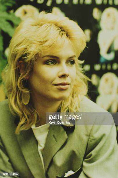 English pop singer Kim Wilde at a record shop to promote her debut album 1981