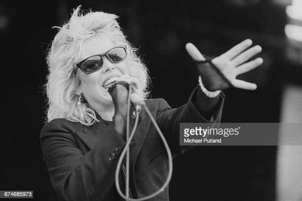 English pop singer Kim Wilde performing at the Elixer Festival in Brest France 15th July 1984
