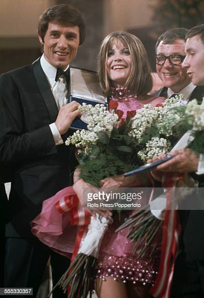 English pop singer Sandie Shaw after winning the Eurovision Song Contest with her performance of 'Puppet On A String' at the Grosser Festsaal der...