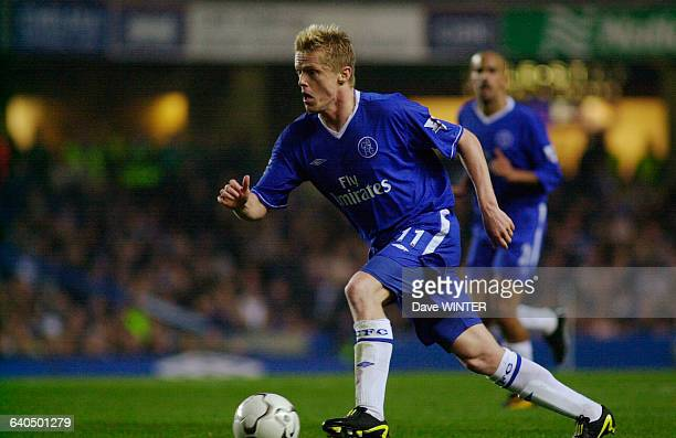 English Premiership Soccer Chelsea vs Newcastle United Damien Duff Championnat d'Angleterre Saison 20032004 Chelsea contre Newcastle United
