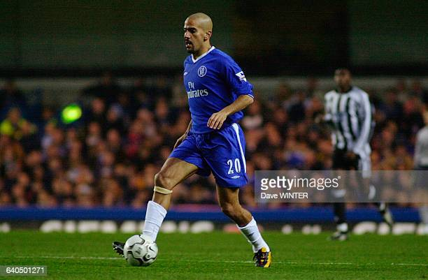 English Premiership Soccer Chelsea vs Newcastle United Juan Sebastian Veron Championnat d'Angleterre Saison 20032004 Chelsea contre Newcastle United