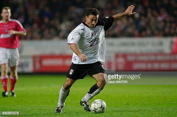 English Premiership Soccer Season 20032004 Charlton Athletic vs Fulham Steed Malbranque Football Championnat d'Angleterre Saison 20032004 Charlton...