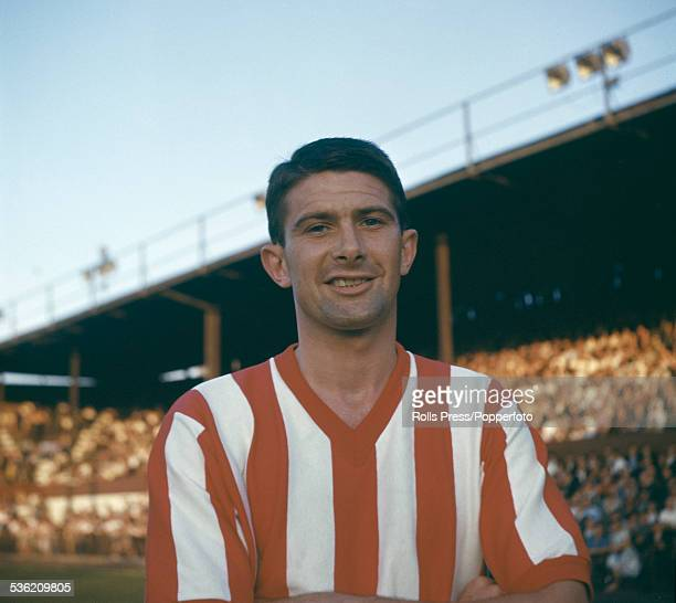English professional footballer and inside forward for Brentford FC Johnny Rainford pictured at the team's Griffin Park ground circa 1960