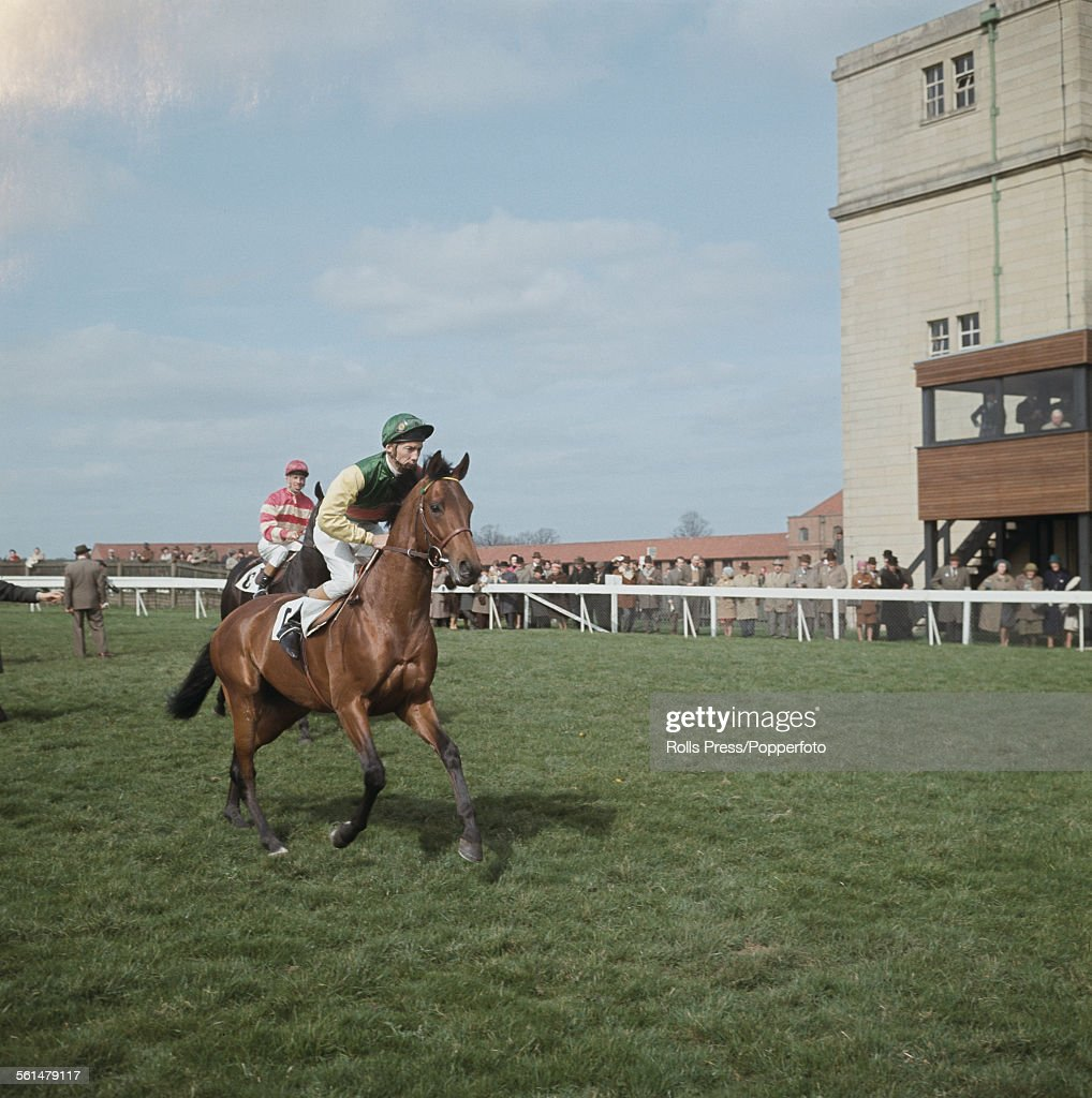 English professional jockey <a gi-track='captionPersonalityLinkClicked' href=/galleries/search?phrase=Lester+Piggott&family=editorial&specificpeople=208072 ng-click='$event.stopPropagation()'>Lester Piggott</a> rides racehorse Ribocco at Newmarket Racecourse in Suffolk, England in 1967.