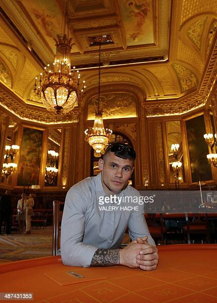 English professional middleweight boxer Martin Murray poses in the MonteCarlo Casino in Monaco on April 30 2014 Murray will make his Monte Carlo...