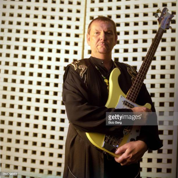 English progressive rock band Yes bassist Chris Squire poses for a January 1999 portrait in Universal City California
