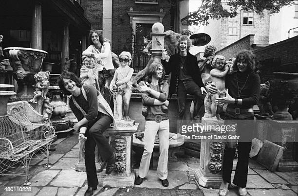 English progressive rock band Yes pose for a portrait in July 1969 in London England