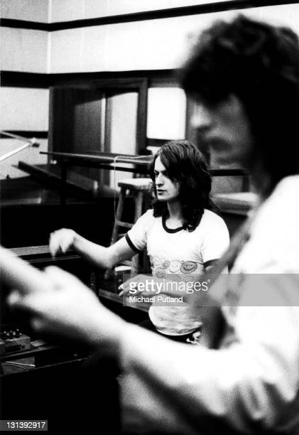 English progressive rock band Yes recording their 'Fragile' LP at Advision Studios in London 20th August 1971 Jon Anderson Chris Squire