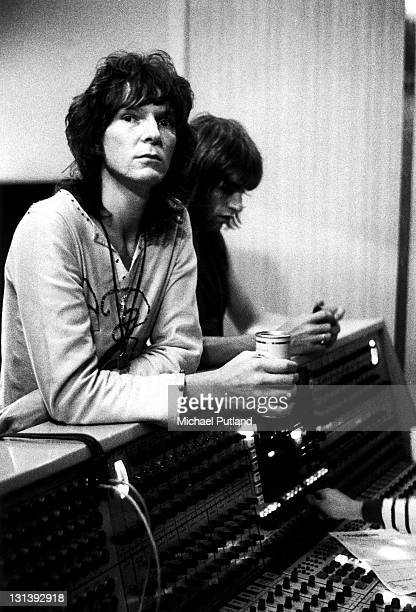 English progressive rock band Yes recording their 'Fragile' LP at Advision Studios in London 20th August 1971 Chris Squire