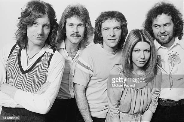 English progressive rock group Renaissance USA March 1978 Left to right keyboard player John Tout bassist Jon Camp drummer Terence Sullivan singer...
