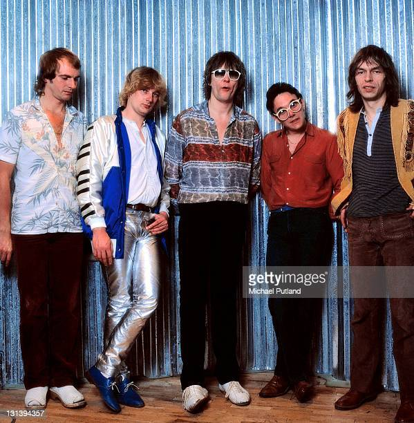 English progressive rock group Yes LR Alan White Geoff Downes Chris Squire Trevor Horn Steve Howe