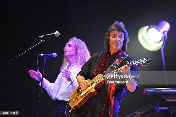English progressive rock musician Steve Hackett and Nad Sylvan performing live on stage at the Hammersmith Apollo in London during the 2013 Genesis...
