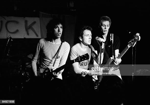 English punk band The Clash performing at Rafters Club Glasgow 3rd July 1978 Left to right Mick Jones Joe Strummer and Paul Simonon