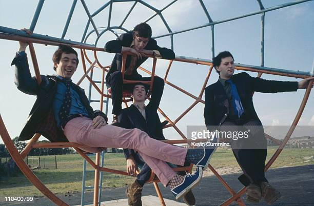 English punk group Buzzcocks 1977 Clockwise from left singer Pete Shelley drummer John Maher bassist Garth Smith and guitarist Steve Diggle