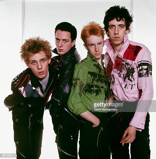 English punk group The Clash circa 1977 Left to right bassist Paul Simenon singer Joe Strummer drummer Topper Headon and guitarist Mick Jones