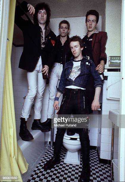 English punk group The Clash New York 1978 Left to right guitarist Mick Jones bassist Paul Simonon drummer Topper Headon and singer Joe Strummer