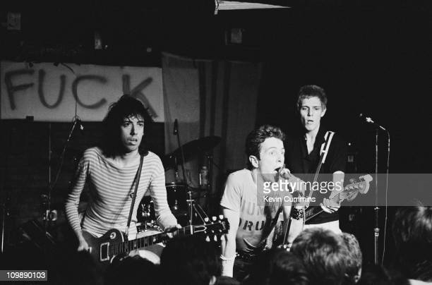 English punk group The Clash performing at Rafters Manchester 3rd July 1978 Left to right Mick Jones Joe Strummer and Paul Simonon