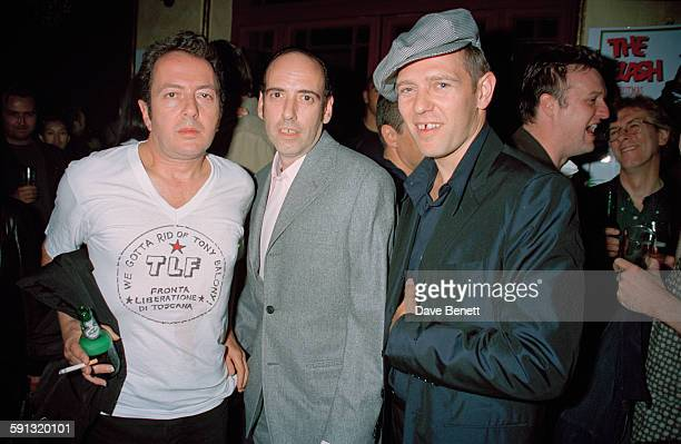 English punk rock band The Clash at a party for the documentary film 'The Clash Westway to the World' at the Cobden Club London 21st September 1999...