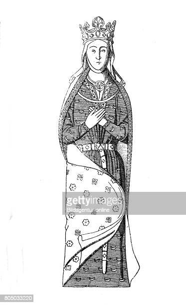 English queen Isabella von Angouleme wife of Johann without Land 12001220 History of fashion costume story