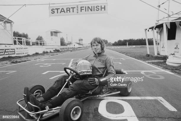 English racing driver David Hunt younger brother of Formula One world champion James Hunt on a gokart 19th August 1977