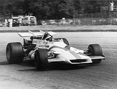 English racing driver Peter Gethin on his way to victory in the Italian Grand Prix at Monza in a BRM P160 5th September 1971