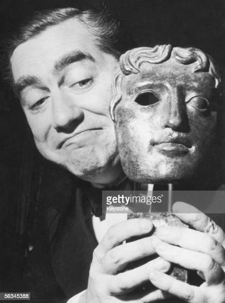 English radio and television comedian Tony Hancock with his BAFTA award after being named 'Britain's Funniest Man' of 1959 2nd December 1959
