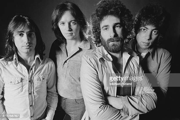 English rock band 10cc 1974 Left to right Lol Creme Eric Stewart Kevin Godley and Graham Gouldman