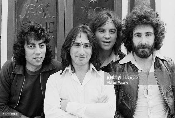 English rock band 10cc May 1974 Left to right Graham Gouldman Lol Creme Eric Stewart and Kevin Godley