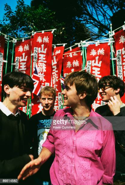 English rock band Blur in Tokyo March 1992 From left to right bassist Alex James drummer Dave Rowntree singer Damon Albarn and guitarist Graham Coxon